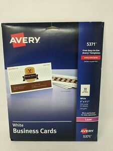 Avery Laser Micro perforated Business Cards 2 X 3 1 2 White Pack Of 250 Car