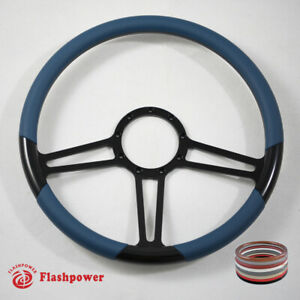 15 5 Black Billet Steering Wheel Blue Full Wrap Chevy Blazer Gmc Gto