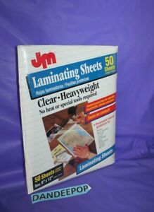 Jm Laminating Clear Heavyweight Sheets Sealed Pack Of 50 9x12
