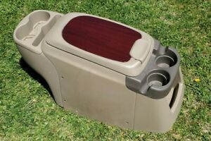 99 10 Ford Trucks Excursion Front Center Console Compartment Arm Rest Tan