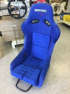 Bride Style Vios Iii Full Bucket Fixed Back Racing Seat Blue Sparkle Large