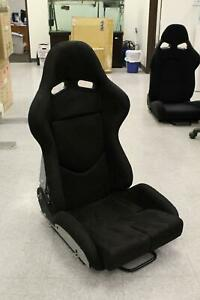 Snc Tuning Gs Style Large Reclinable Bucket Seat Black Suede Carbon Fiber Shell