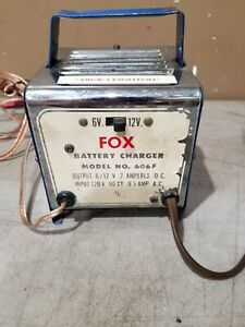 Working Vintage Fox 6 12 Volt Battery Charger 2 Amp Free Ship