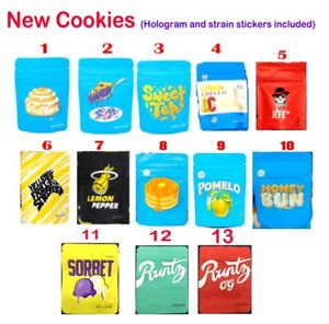 New Cookies Variety 3 5g Mylar Ziplock Bags Free Labels Stickers Same Day Ship