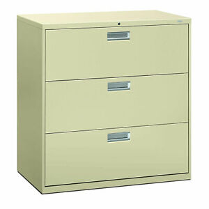 Hon Brigade 3 Drawer Lateral File 36 w Putty Hon683ll