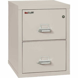 Fireking Fireproof 2 Drawer Vertical File Cabinet 22125pl Legal Size 21 w X