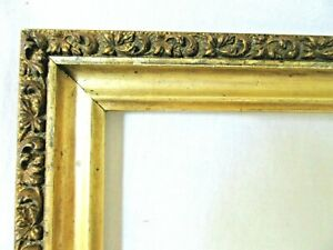 Antique Fits 8 5 8 X 16 Gold Picture Frame Wood Ornate Gesso Fine Art Country