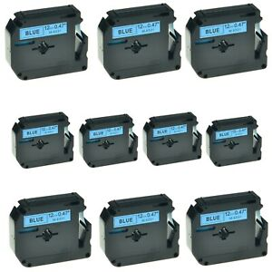 10pk Mk531 M k531 Black On Blue Label Tape For Brother P touch Pt 85 12mm 1 2