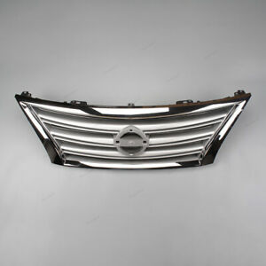 Front Bumper Grille Grill Chrome Fit For Nissan Sentra 2013 2014 2015