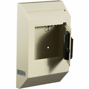 Protex Letter Size Wall Drop Box With Electronic Lock 10 X 4 X 16 3 8 Beige