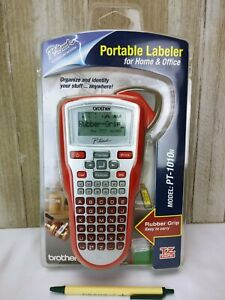 New Sealed Brother Pt 1010r Pt 1010 P touch Label Maker Red W Tz Tape