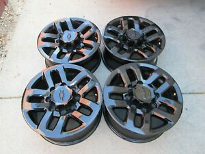 18 Chevy Gmc 2500 Hd Denali Oem Factory Wheels Rims 8x180 Chevy Black