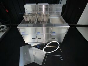 Pitco Solstice 2 Well Gas Commerical 50lb Deep Fryer With Filter Natural Gas