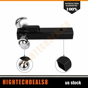 Triple Tri Ball With Hook Trailer Hitch 2 Receiver Mount Loading 7000lbs 1pcs