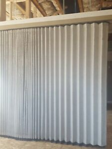 Commercial Accordion Wall Office Divider Ceiling Mounted Tan Color