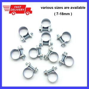 Universal Fuel Injection Gas Line Hose Clamps Clip Pipe Car Vacuum Coolant Clamp