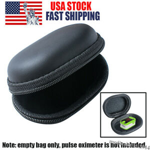 Finger Pulse Oximeter Heart Rate Monitor Pouch Bag Carrying Storage Case Zipper