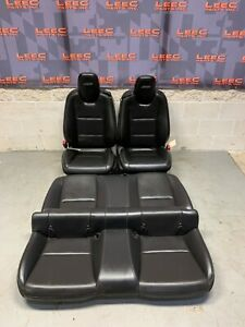 2010 Camaro Ss Oem Black Leather Front Rear Seats Coupe