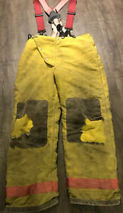 Globe 36 X 32 Firefighter Turnout Bunker Pants Suspenders