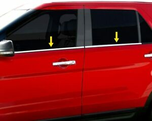 4pc Chrome Stainless Window Sill Trim For 2005 2009 Chevy Aveo5 5 Door