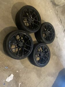4 aventgrade Wheels 19 Inch With Brand New Tires Wrapped