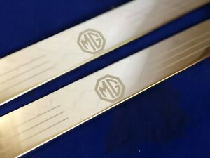 Mg Door Sills Scuff Plates Mgb Roadster Stainless Etched Kick Panels Mg B