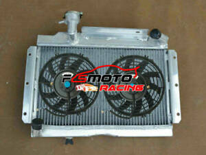 Aluminum Radiator fans For Mg Mga 1500 1600 1622 De Luxe 1955 1962 1 5 1 6 56 57