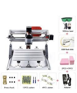 Diy 2 In 1 Cnc Laser Cutting And Engraving Machine 3018 500 Mw Laser New Openbox