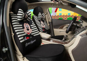 1 Sets New Cartoon Cute Mickey Mouse Universal Four Seasons Car Seat Covers