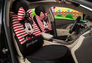 1 Sets Car Seat Covers New Cute Mickey Mouse Universal Four Seasons Red Back