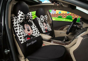 1 Sets Car Seat Covers New Cute Mickey Mouse Universal Four Seasons Milk Pattern