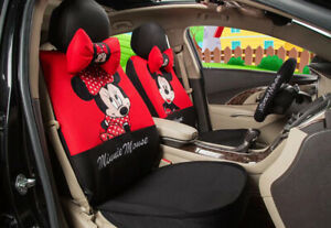 1 Sets Universal Car Seat Covers New Cute Mickey Mouse Minnie Four Seasons
