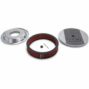 Edelbrock 4268 Elite Ii Air Cleaner 14 Diameter 3 Cotton Pre oiled Element With