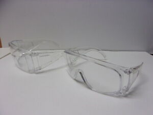 Lot Of 2 Bouton Optical Over Glasses the Scout Safety Goggle Glasses Clear 463