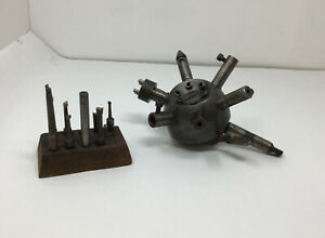 Millikan Metal Watchmaker Lathe Tailstock Turret Attachment W Bits