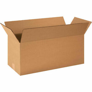 24 X 10 X 10 Long Cardboard Corrugated Boxes 65 Lbs Capacity Ect 32 Lot Of