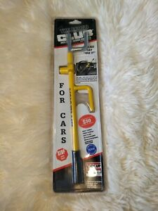Nos The Econo Club For Cars Steering Wheel Lock 500 Vintage New Yellow