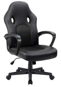 Furmax Office Desk Leather Gaming Chair High Back Ergonomic Adjustable black