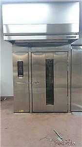 Hobart Natural Gas Double Rack Revolving Oven For Bread Cookies Bagels