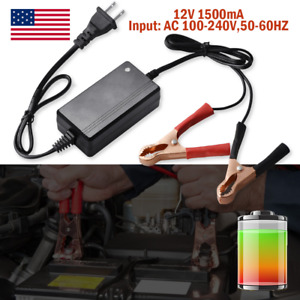 12v Auto Automatic Battery Trickle Charger Maintainer For Car Truck Motor Atv