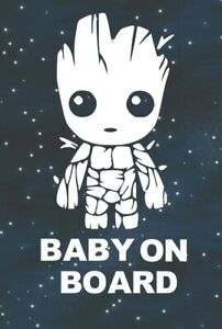 Baby Groot Baby On Board Car Suv Truck Funny Window Bumper Vinyl Decal Sticker