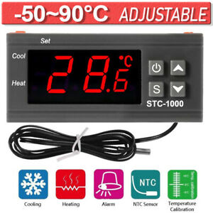 Digital Led Microcomputer Thermostat Controller Switch Temperature Sensor Relay