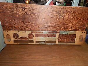 Jeep Wrangler Yj 87 95 Oem Tan Metal Dash Panel Plate Free Ship