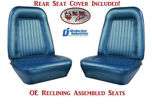 Assembled Oe Reclining Seats Standard Rear Cover 1968 Camaro Coupe