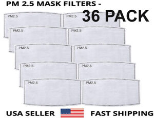 36 Pack Adult Pm2 5 5 Layer Carbon Face Super Fresh Air Mask Filter Replacements