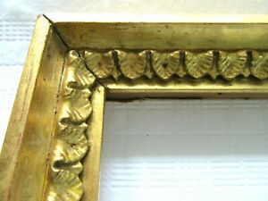 Antique Fits 10 6x 12 Lemon Gold Gilt Picture Frame Wood Gesso Fine Art Ornate