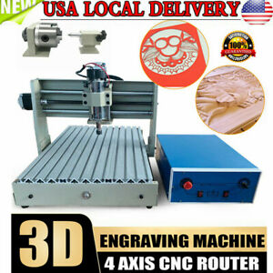 Usb 4 Axis 3040 Cnc Router Engraver Milling Engraving Machine Pcb Engineer Usa