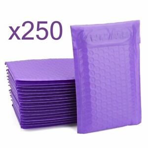 250 Bubble Mailers Purple 6x10 Packaging Shipping Supplies Envelope