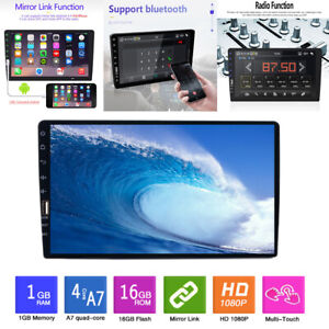 Single 1 Din 9quot; Car Stereo FM USB AUX MP5 Player Touch Screen Radio BT In Dash $99.99
