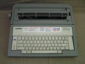 Brother Gx 7000 Portable Electric Correcting Typewriter W Cover Works Great